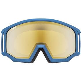 UVEX Athletic FM Goggles, underwater mat/mirror gold